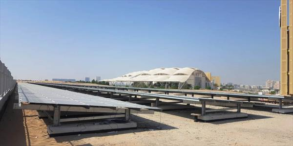 Construction of Solar Mounting Structure for University of Dubai
